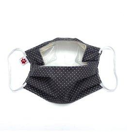 FLAX & STITCH masque en tissu avec fenêtre transparente