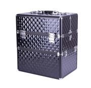 IMPREZZ® IMPREZZ Nagelkoffer  Beauty Case Diamond ZWART   Afmetingen 25x35x40,5 cm   ALLEEN bij ONS verkrijgbaar   GRATIS verzending