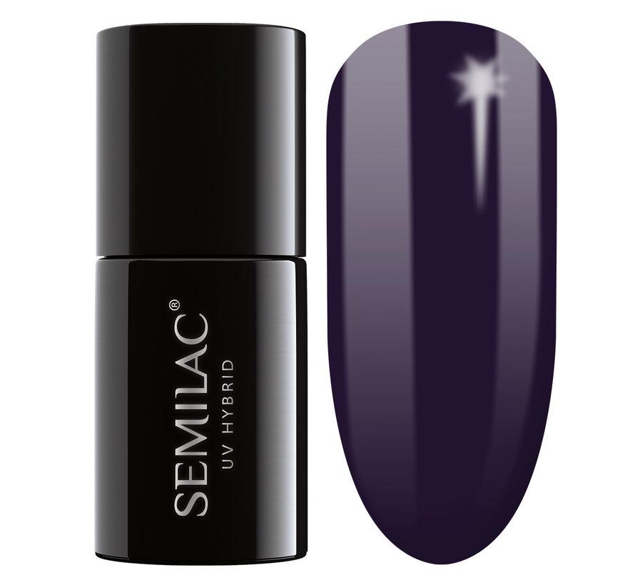Semilac Gellak | Gelpolish Soak Off | 100 Black Purple  | 7 ml. | Donkerpaars |