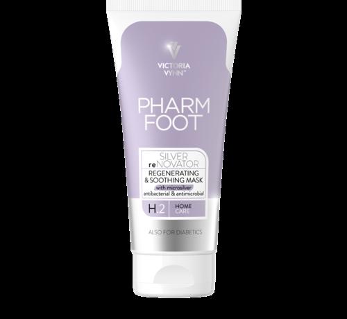 Pharm Foot Pharm Foot MicrosilverSilver reNovator | Crèmemasker met microzilver wat de huid regenereert | Aanbevolen voor de huid met een verstoorde balans 75 ml.