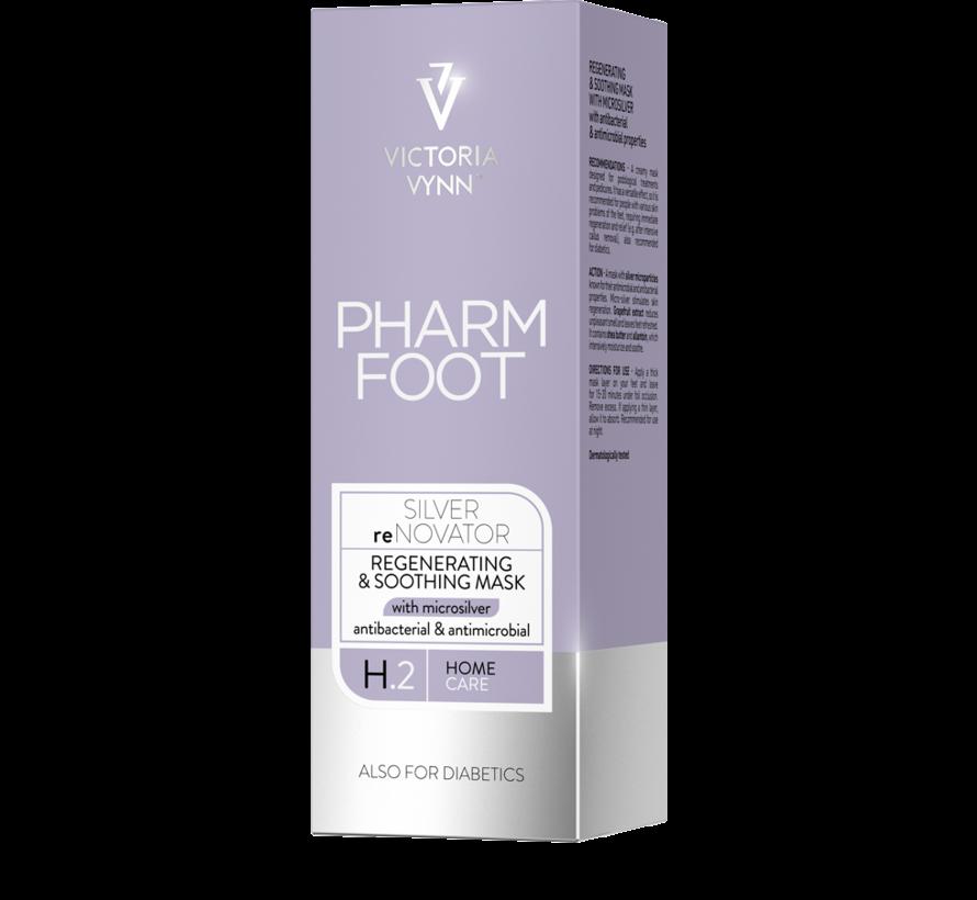 Pharm Foot MicrosilverSilver reNovator | Crèmemasker met microzilver wat de huid regenereert | Aanbevolen voor de huid met een verstoorde balans 75 ml.
