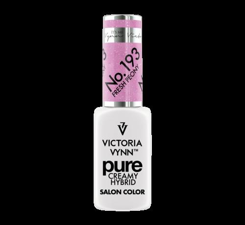 Victoria Vynn  Gellak Victoria Vynn | Pastel Roze Glitter | 193 | Gel Nagellak | Pure Creamy Hybrid | 8 ml | Fresh Peony