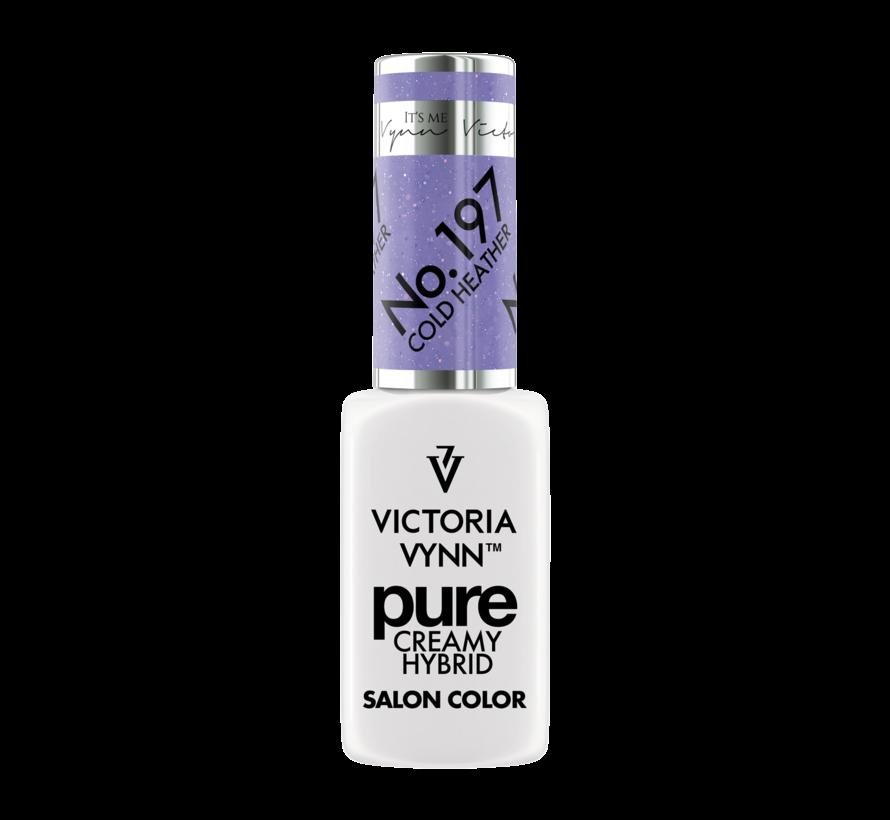 Gellak Victoria Vynn   Pastel Paars glitter   197   Gel Nagellak   Pure Creamy Hybrid   8 ml   Cold Heather