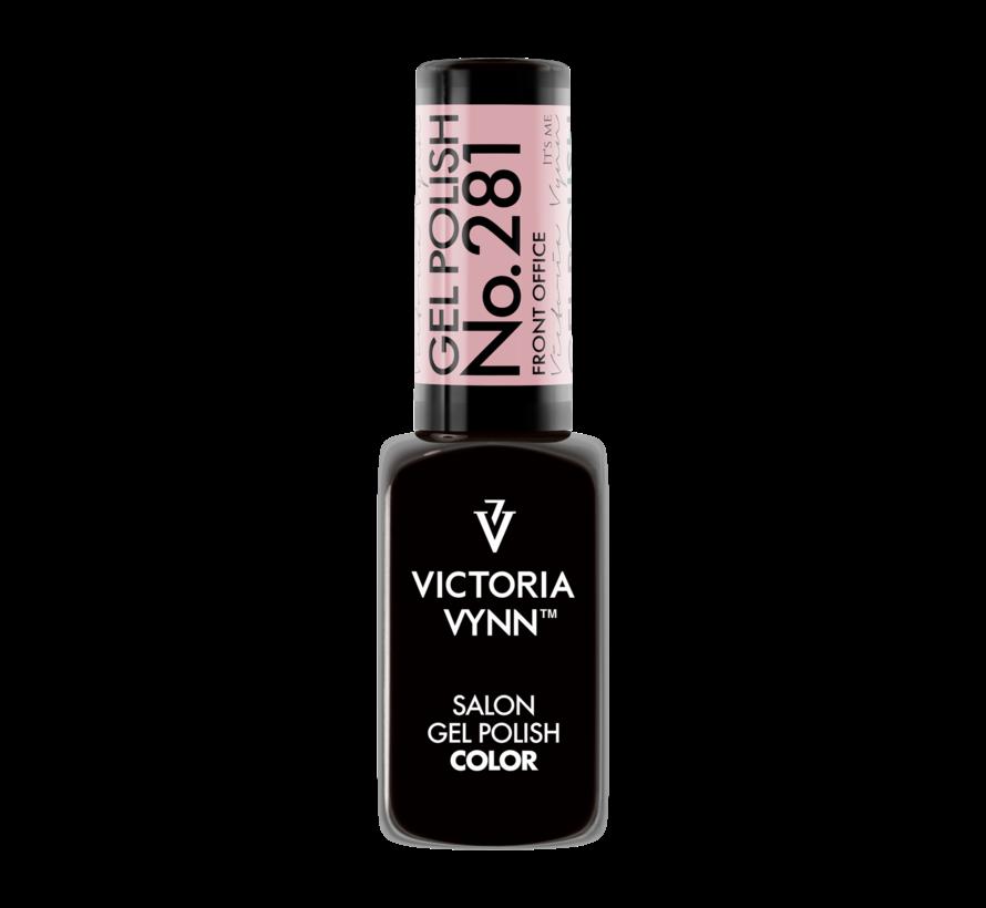 Salon Gellak Victoria Vynn   281   Dirty Pink   Front Office   8 ml