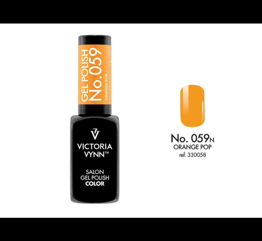 Gellak Victoria Vynn™ Gel Nagellak - Salon Gel Polish Color 059 - 8 ml. - Orange Pop