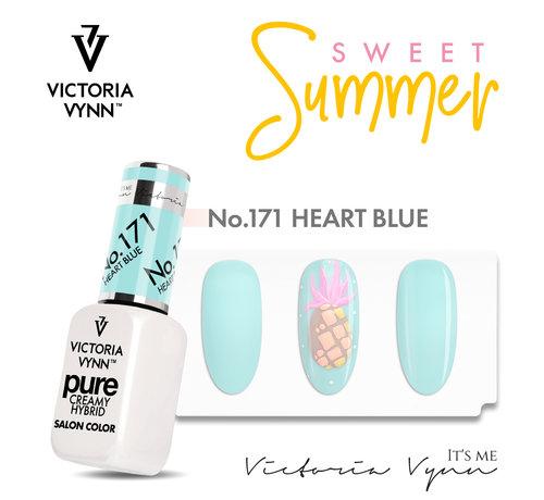 Victoria Vynn  Victoria Vyn Gellak | Gel Nagellak | Pure Sweet Summer Collectie | 171 Heart Blue | 8 ml. | Lichtblauw