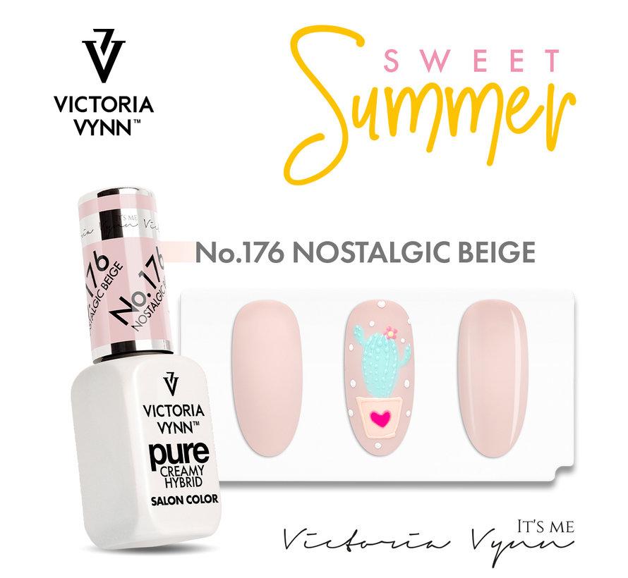 Victoria Vyn Gellak   Gel Nagellak   Pure Sweet Summer Collectie   176 Nostalgic Beige   8 ml.   Nude