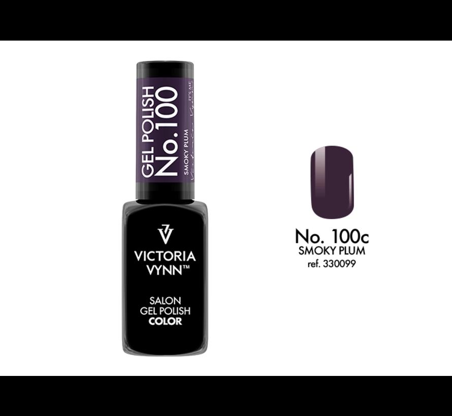 Gellak Victoria Vynn™ Gel Nagellak - Salon Gel Polish Color 100 - 8 ml. - Smoky Plum