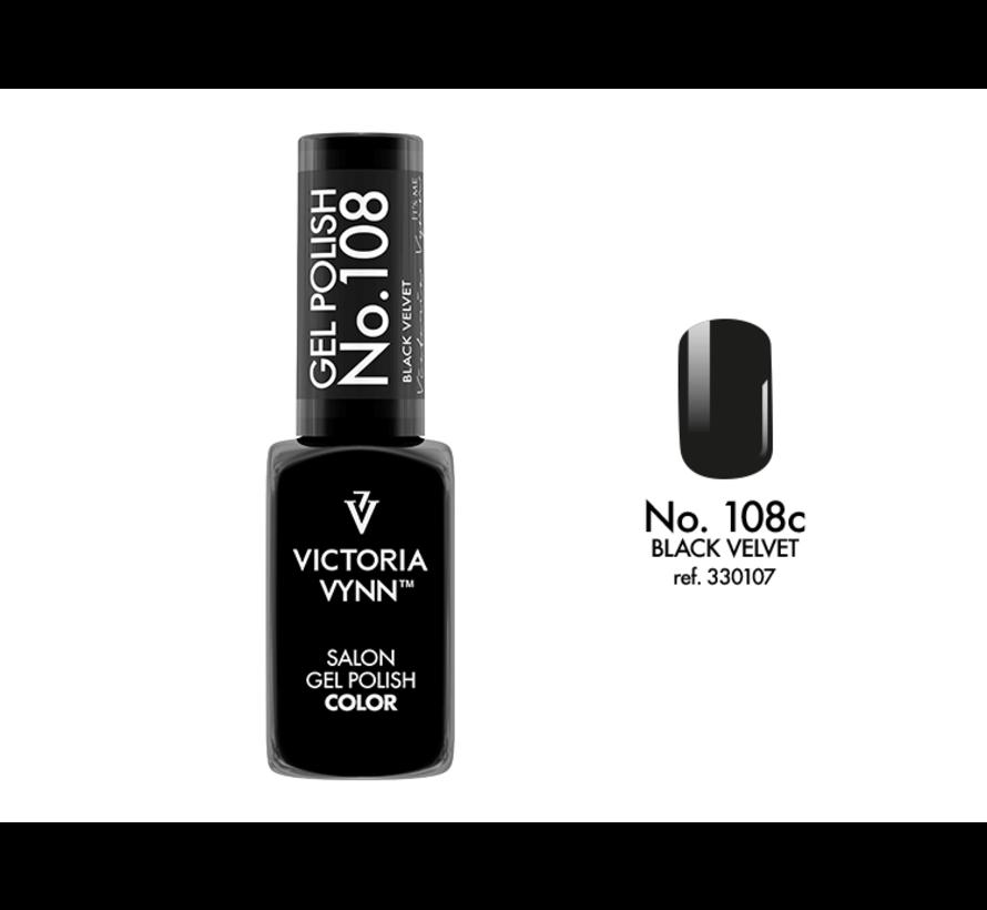 Gellak Victoria Vynn™ Gel Nagellak - Salon Gel Polish Color 108 - 8 ml. - Black Velvet