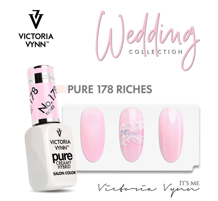 Victoria Vyn Gellak - Gel Nagellak - Pure Wedding Collectie - 178 Riches - 8 ml. - Roze
