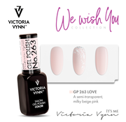 Victoria Vynn  Victoria Vynn Gellak - Gel Nagellak - Salon Gel Polish Color - 263 Love - 8 ml. - Lichtroze - Semi-transparant milky beige pink - Ideaal voor french manicure