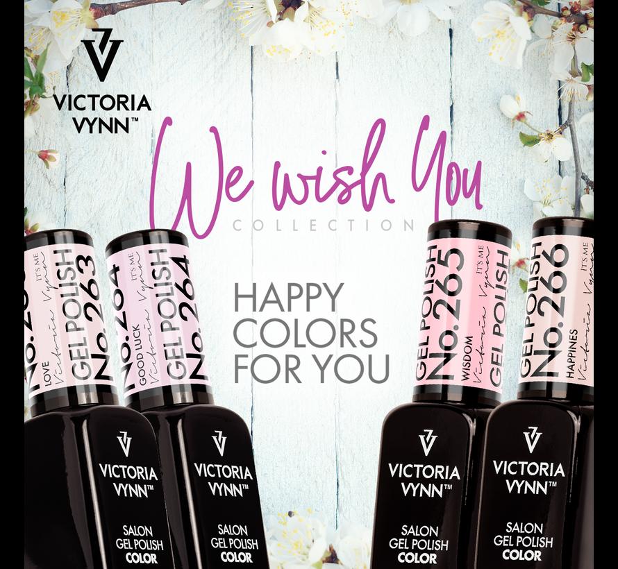 Victoria Vynn Gellak - Gel Nagellak - Salon Gel Polish Color - 263 Love - 8 ml. - Lichtroze - Semi-transparant milky beige pink - Ideaal voor french manicure
