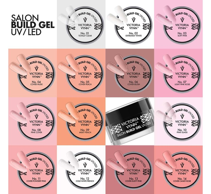 Victoria Vynn™ - Buildergel - gel om je nagels mee te verlengen of te verstevigen - Light Pink Rose 15ml. - Roze gel