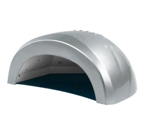 No Label  LED Lamp DUAL 24/48 watt- Model Sun One  - Met automatische hand sensor - geschikt voor ALLE gels - ZILVER