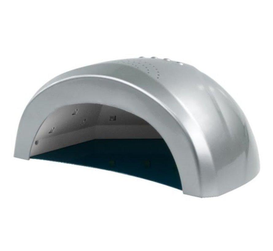 LED Lamp DUAL 24/48 watt- Model Sun One  - Met automatische hand sensor - geschikt voor ALLE gels - ZILVER