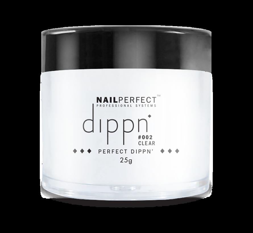 Dip poeder voor nagels - Dippn Nailperfect - 002  Clear  - 25gr