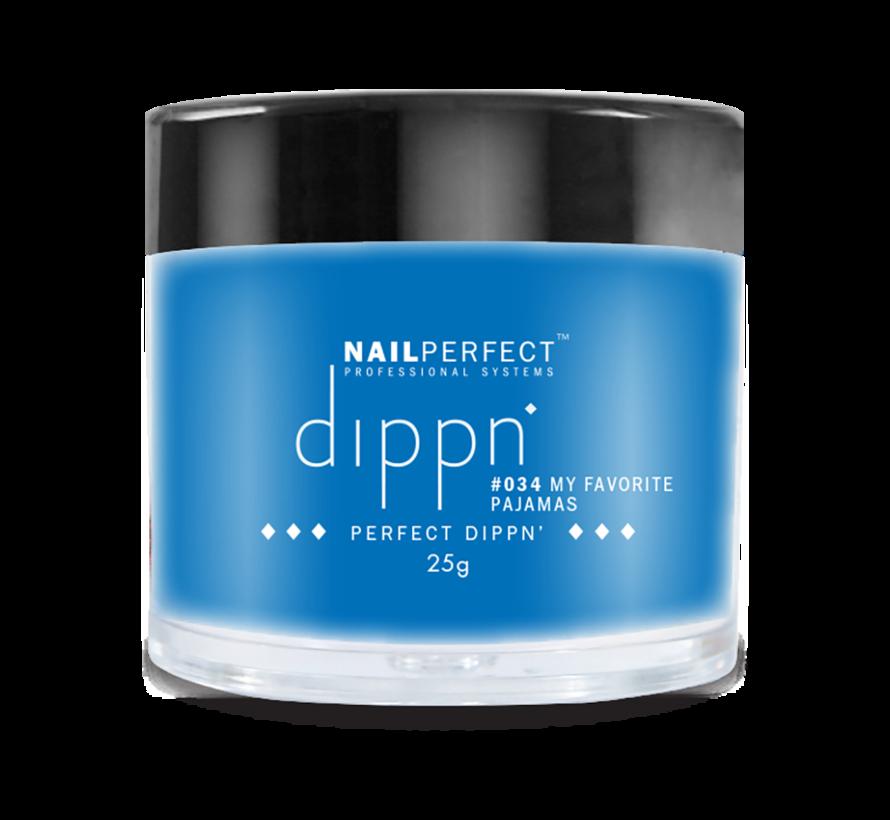 Dip poeder voor nagels - Dippn Nailperfect - 034  My favorite pajamas - 25gr