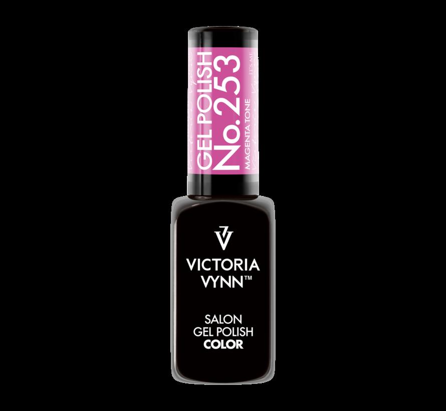 Victoria Vyn Gellak - Gel Nagellak - Salon Gel Polish Color - 253 Magenta Tone - 8 ml. - Roze