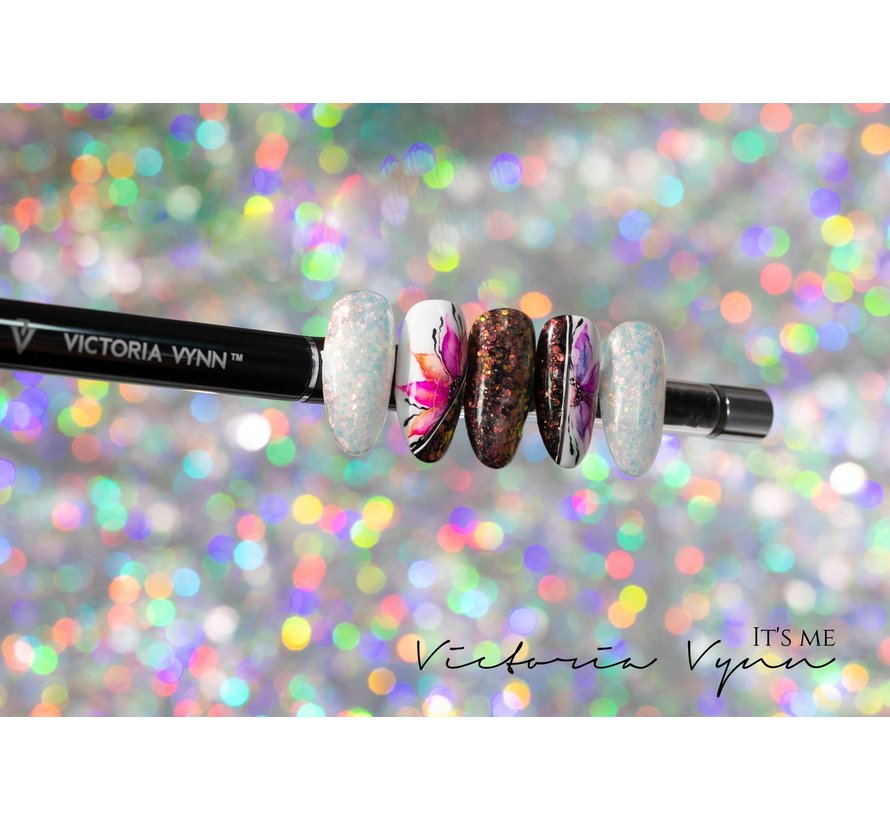 Victoria Vynn™ - Brillant Gel UV/LED - Extreme glitters 02 Frost - 5 gram  - Wit Hologram glitters
