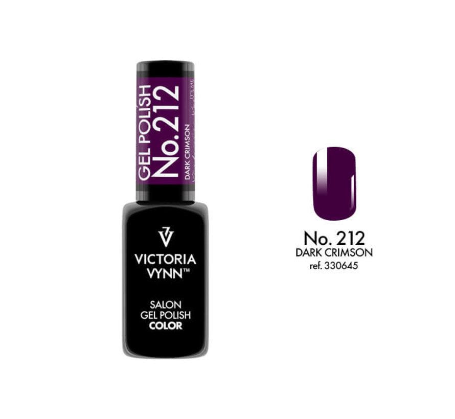 Gellak Victoria Vynn™ Gel Nagellak - Salon Gel Polish Color 212 - 8 ml. - Dark Crimson