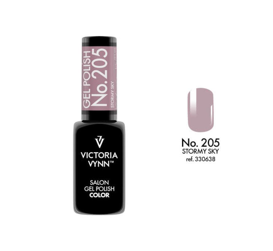 Gellak Victoria Vynn™ Gel Nagellak - Salon Gel Polish Color 205 - 8 ml. - Stormy Sky