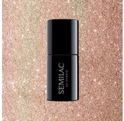 Semilac Gellak Rose Goud Glitter Semilac | 349 Delicate Vanilla Glitter | Gel Nagellak | 7 ml