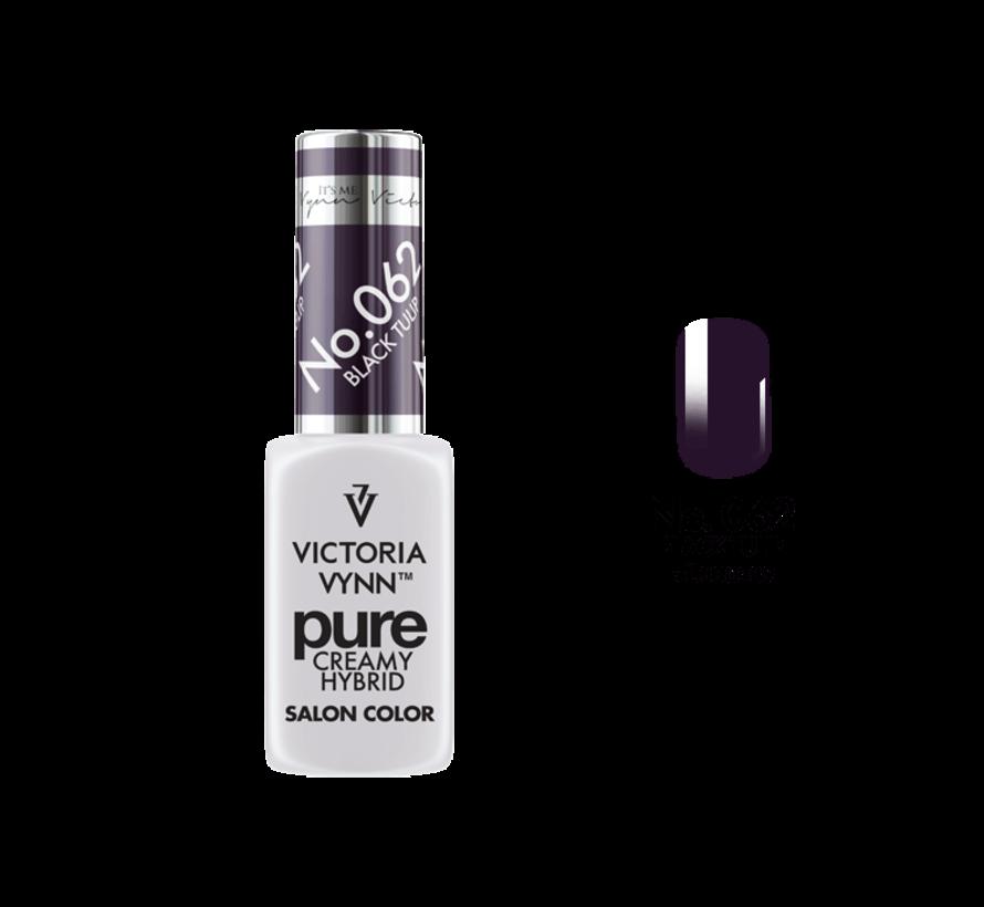 Gellak Victoria Vynn™ Gel Nagellak - Gel Polish - Pure Creamy Hybrid  - 8 ml - Black Tulip  - 062