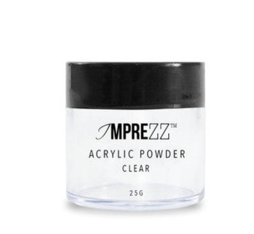 IMPREZZ® IMPREZZ® acrylpoeder - acrylic powder Clear 25 gr. - Transparant - Goedkope acrylpoeder  voor de professional