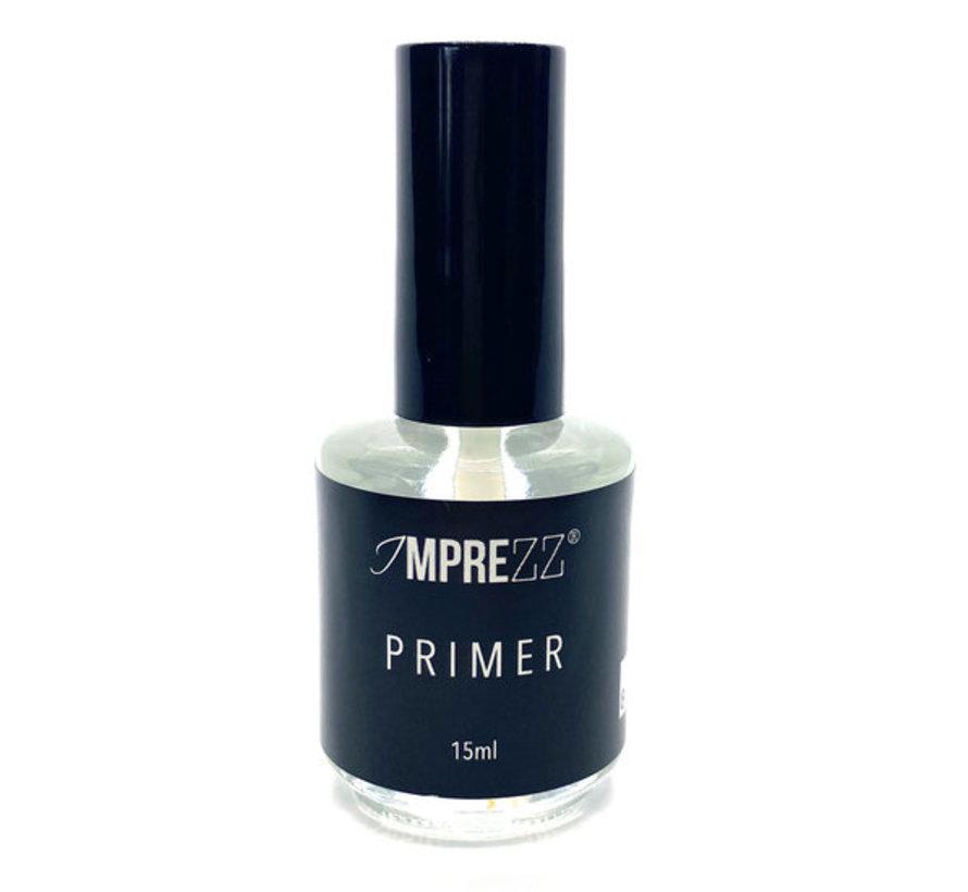 IMPREZZ Primer Acid 15ml   Voor extreme hechting tussen de nagelplaat en jouw kunstnagelproduct   De enige echte primer   Inhoud 15ml.