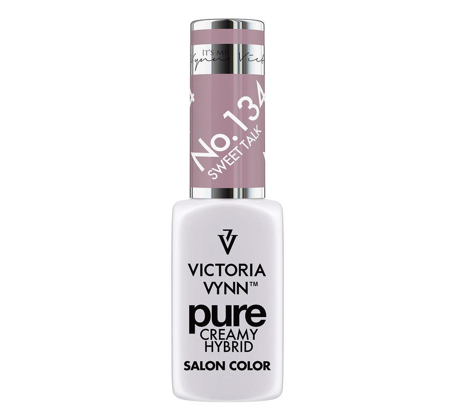 Gellak Victoria Vynn™ Gel Nagellak - Gel Polish - Pure Creamy Hybrid  - 8 ml - Sweet Talk  - 134