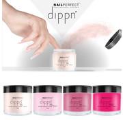 NailPerfect Dip poeder Starter Kit Color - NailPerfect - Dippn Kit (Dippn' Sticky Base 15ml, Dippn' Activator 15ml, Dippn' Fast Dry Top Coat 15ml, 4 kleuren Dippn') Set t.w.v.€ 63,65 excl. btw -