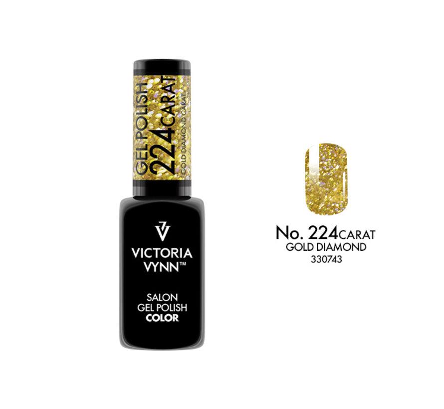 Gellak Victoria Vynn™ Gel Nagellak - Salon Gel Polish Color 224 Carat Gold Diamond- 8 ml. -