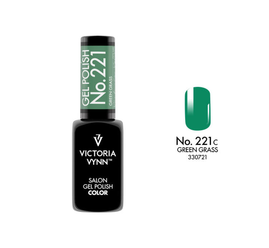 Gellak Victoria Vynn™ Gel Nagellak - Salon Gel Polish Color 221 - 8 ml. - Green Grass