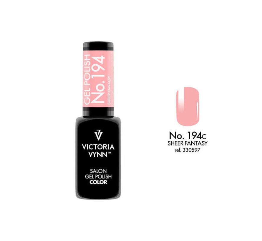 Gellak Victoria Vynn™ Gel Nagellak - Salon Gel Polish Color 194 - 8 ml. - Sheer Fantasy