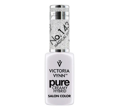 Victoria Vynn  Gellak Victoria Vynn™ Gel Nagellak - Gel Polish - Pure Creamy Hybrid  - 8 ml - Magical Silver  - 143