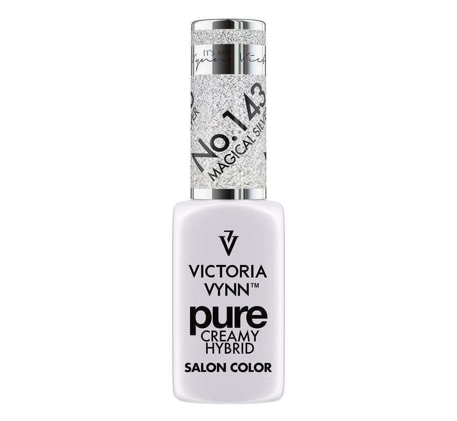 Gellak Victoria Vynn™ Gel Nagellak - Gel Polish - Pure Creamy Hybrid  - 8 ml - Magical Silver  - 143