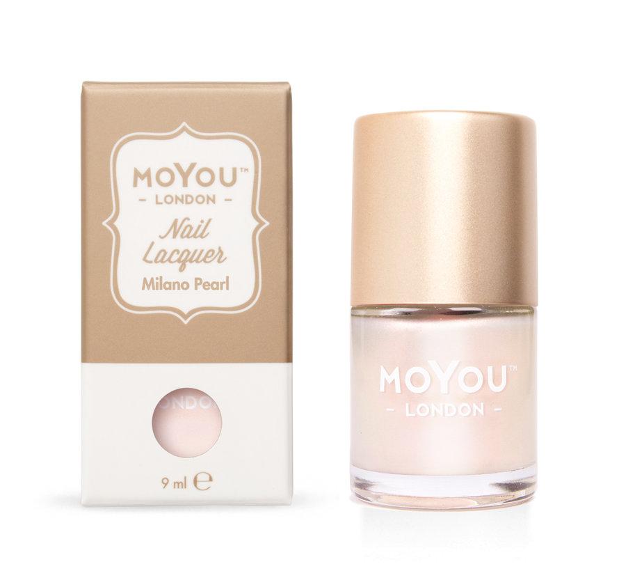 Moyou London Pearl Shine Stempellak - Pearl Shine Premium Polish - Milano Pearl - Roze Shimmer