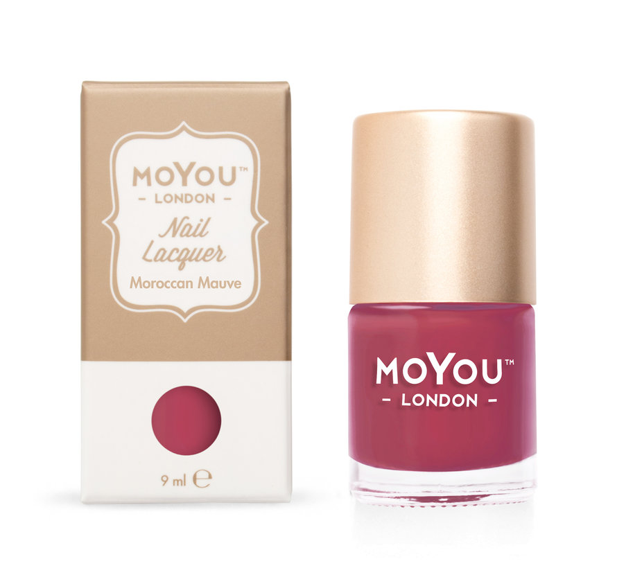 MoYou London Stempellak - Moroccan Mauve - Rood
