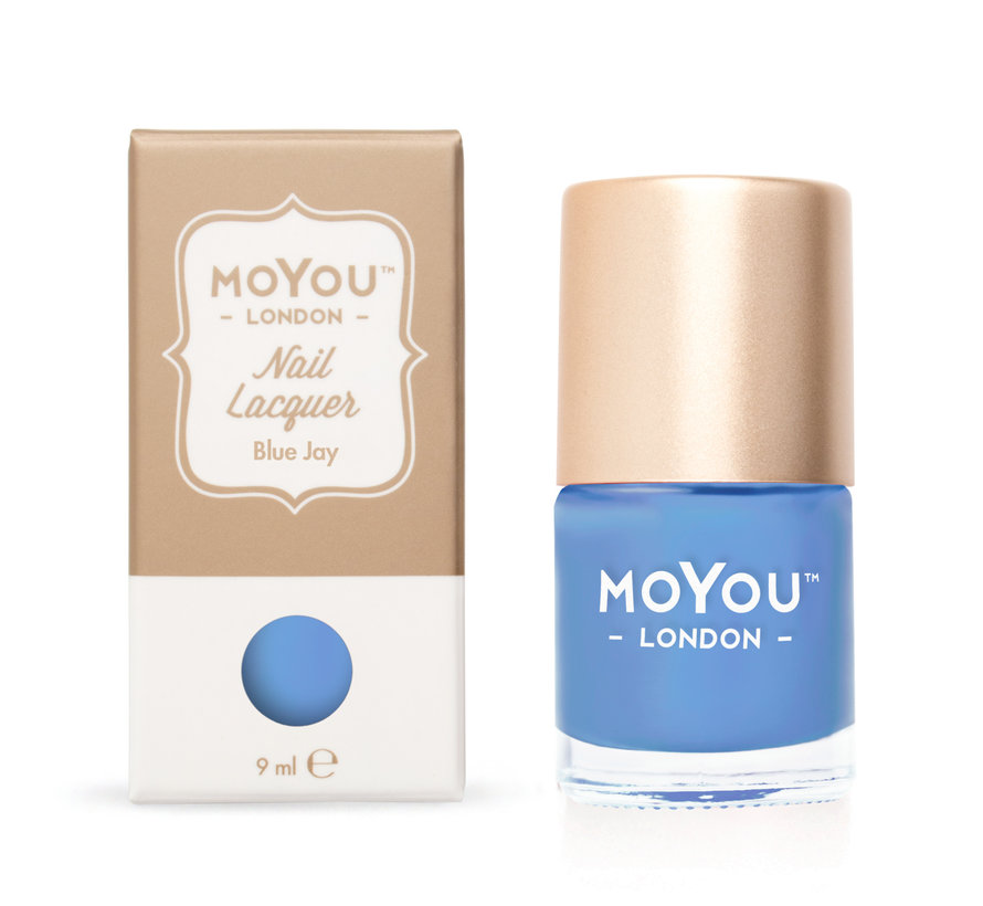 MoYou London Stempel Nagellak - Stamping Nail Polish - 9 ml. - Blue Jay