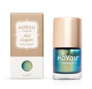 MoYou London  MoYou London Stempellak - Croco Spark - Groen Multicolor Shimmer