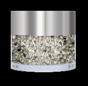 Kiara Sky™ Kiara Sky Sprinkle On Glitter SP201 - BLACK ICE - 25 gram - Strooi deze losse glitters in jouw gellak - gel of acryl en maak van jouw nagels een feestje