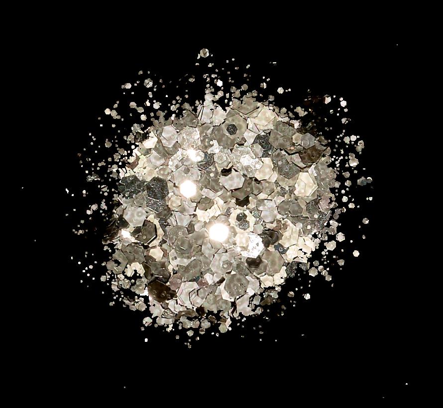 Kiara Sky Sprinkle On Glitter SP201 - BLACK ICE - 25 gram - Strooi deze losse glitters in jouw gellak - gel of acryl en maak van jouw nagels een feestje