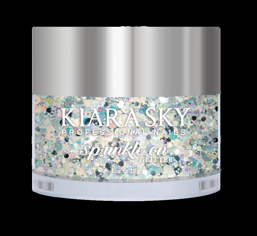 Kiara Sky Sprinkle On Glitter SP202 - A NIGHT IN SPACE - 25 gram - Strooi deze losse glitters in jouw gellak - gel of acryl en maak van jouw nagels een feestje