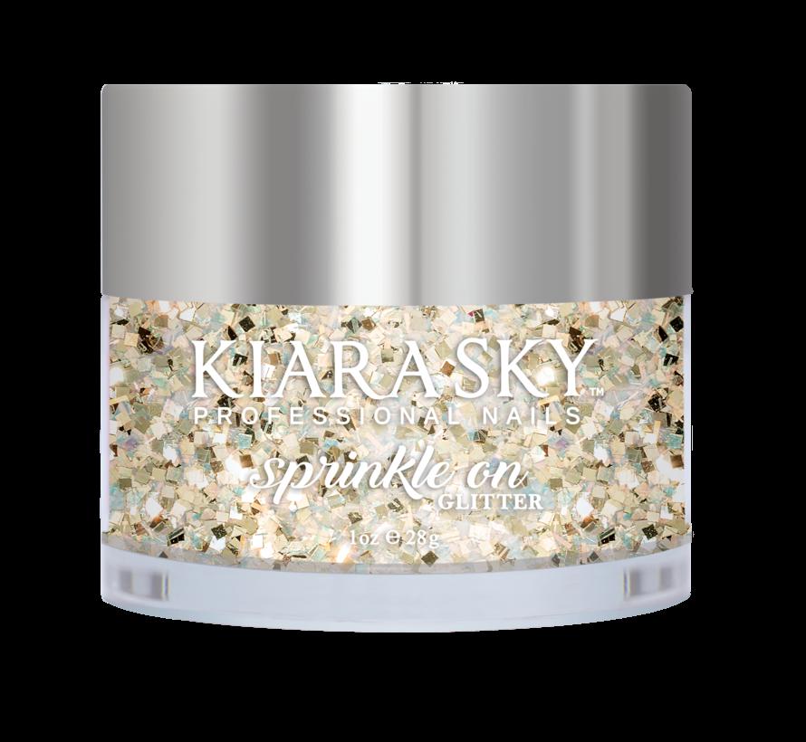 Kiara Sky Sprinkle On Glitter SP215 - MY BUTTER HALF - 25 gram - Strooi deze losse glitters in jouw gellak - gel of acryl en maak van jouw nagels een feestje