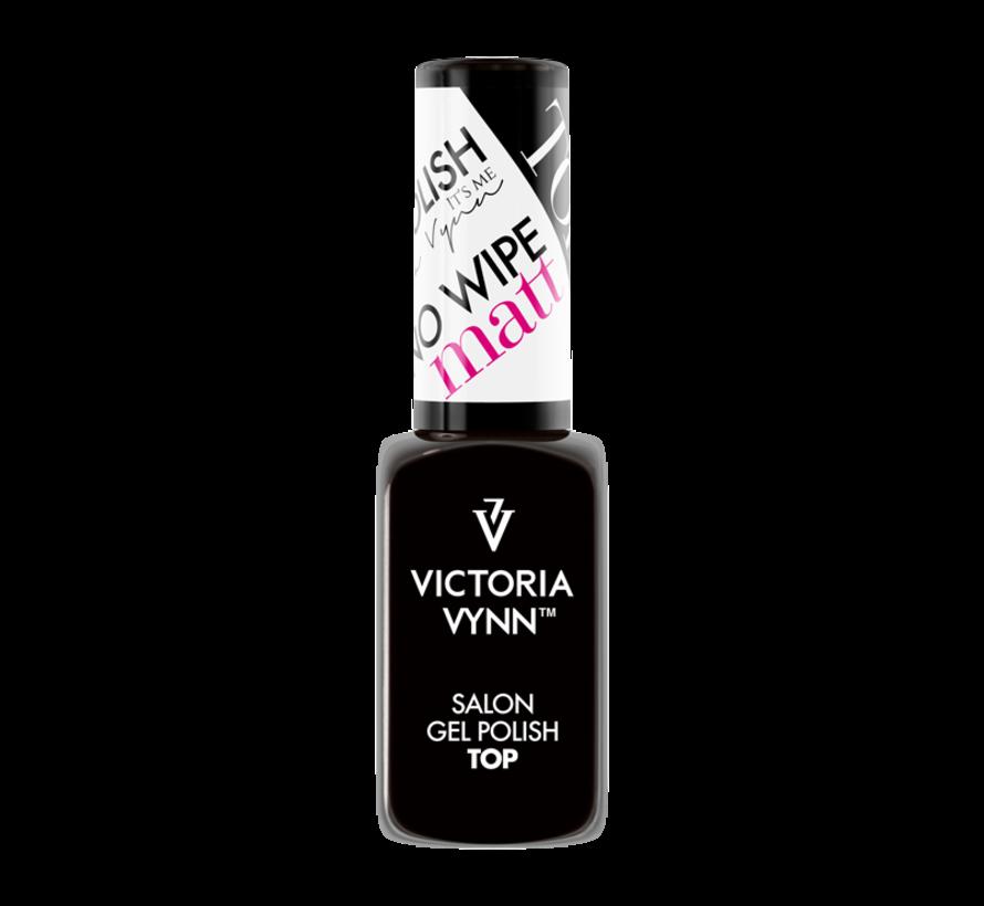Victoria Vynn™ Gellak Top coat zonder plaklaag Matt - No Wipe MATT  8 ml. - Topcoat welke een matte finish geeft