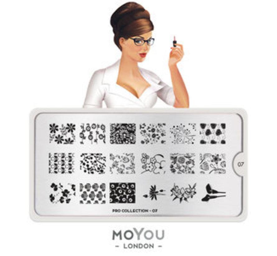 MoYou London Stempelplaat - Nail Art Stamping Pro 07