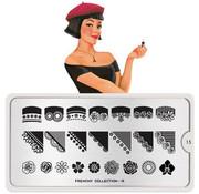 MoYou London  MoYou London Stempelplaat - Nail Art Stamping Frenchy 15