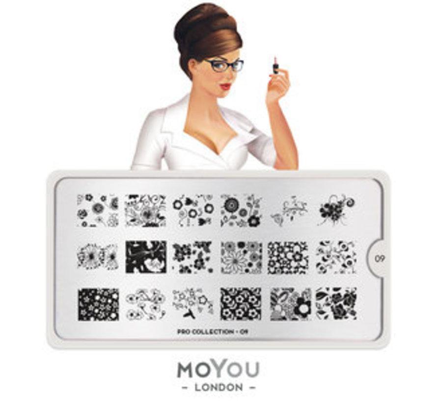 MoYou London Stempelplaat - Nail Art Stamping Pro 09