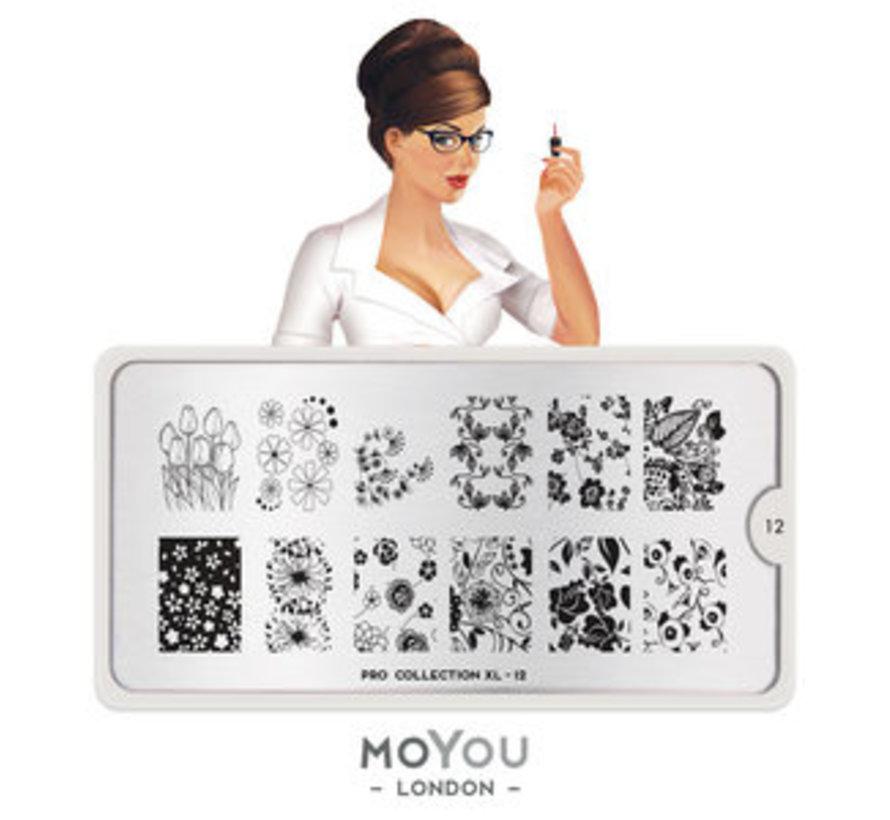 MoYou London Stempelplaat - Nail Art Stamping Pro XL 12