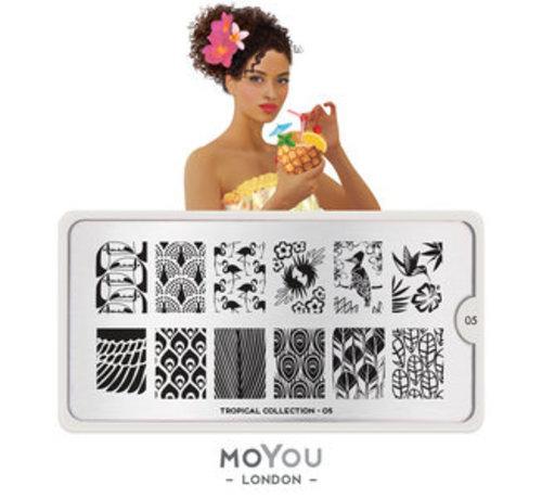 MoYou London  MoYou London Stempelplaat - Nail Art Stamping Tropical 05